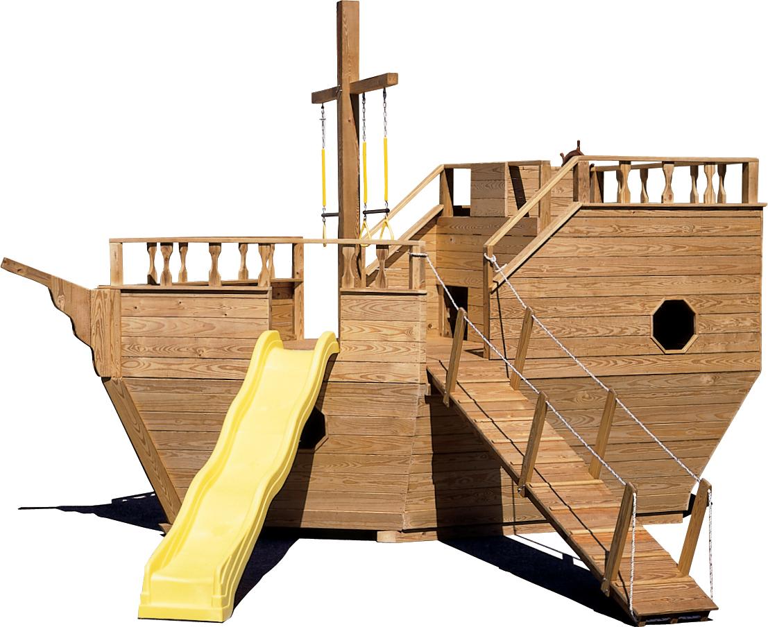 Gera gardens big toy - Pirate ship wooden playground ...