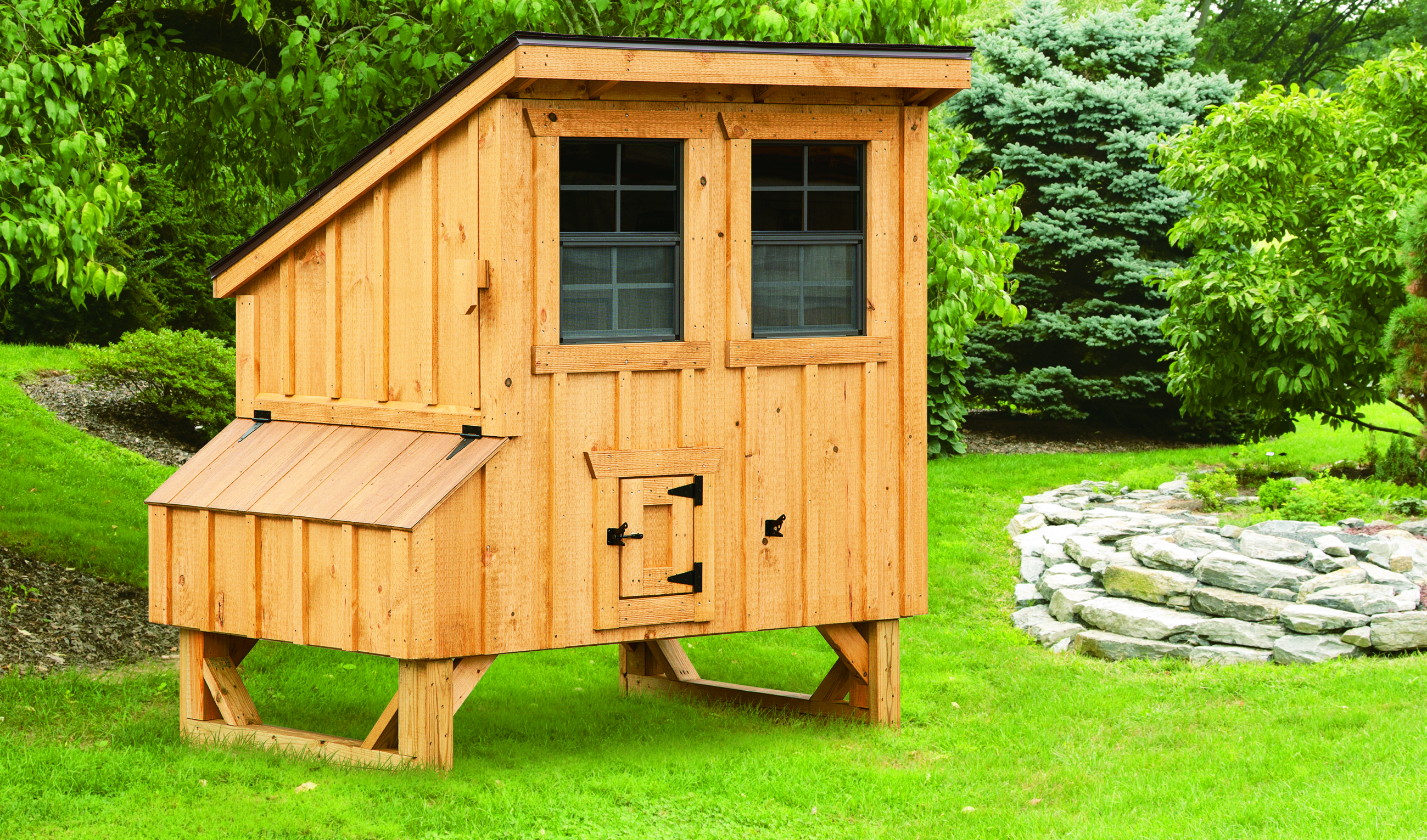chicken pet house hutch hen run backyard supplies image hutches wood nesting poultry pawhut coop raised box deluxe w