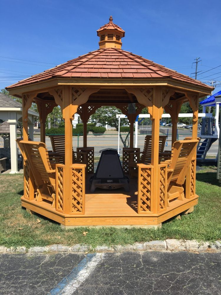 Gera Gardens 187 Wood Octagon Gazebos